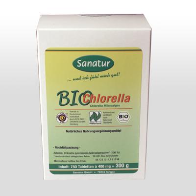 Chlorella 750 Tabletten Nachfüllpackung