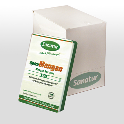 Display SpiruMangan 6 x 100 Tabletten